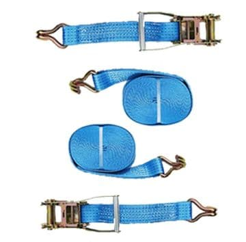 2 x 50mm x 4 metre MBL 5000KG TIE DOWN RATCHET LASHING STRAPS Claw Hook trailer